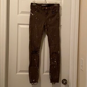 Zara paint splattered jeans